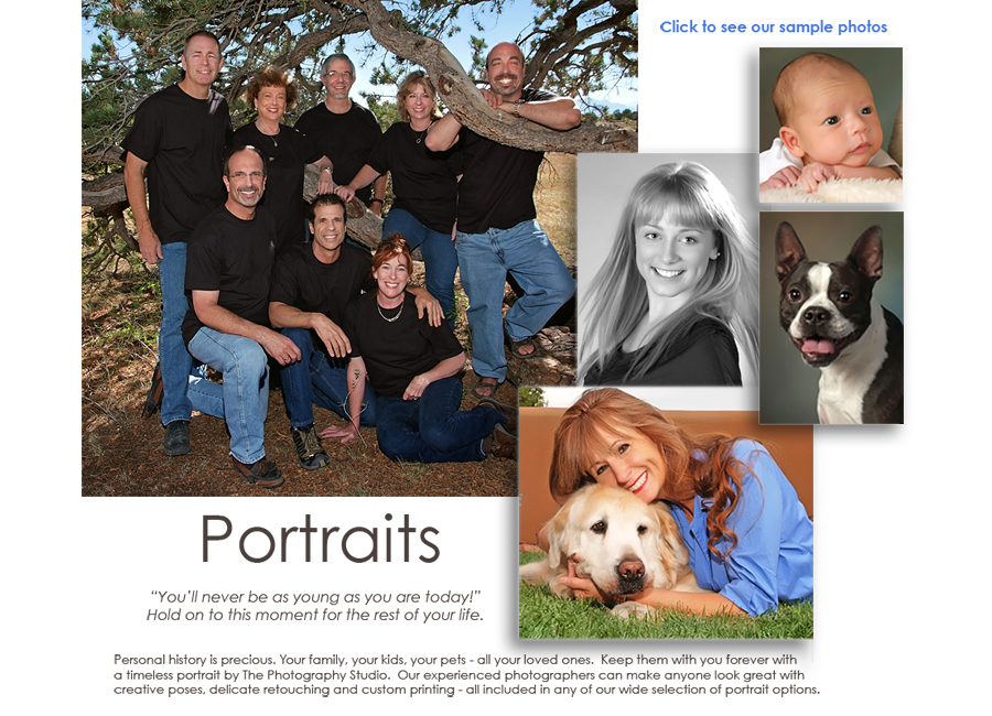 button to view portrait photography samples